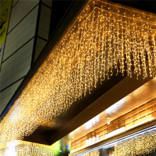 4.6M Waterproof Outdoor Christmas Light Led Curtain Icicle String Lights Droop 0.4-0.6m Garlands Fairy Eaves Decorative Lights