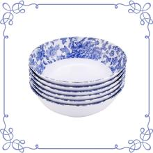 "7.5"" Melamine dinnerware Shallow Bowl set of 6"
