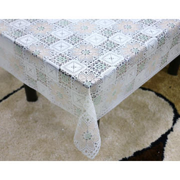 Printed pvc lace tablecloth by roll ottawa