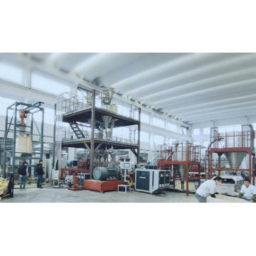 Foaming masterbatch compounding line