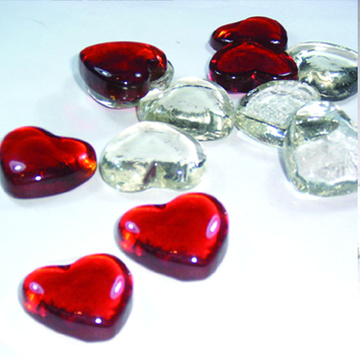 Colorful Glass Nugget Heart glass beads for Decoration