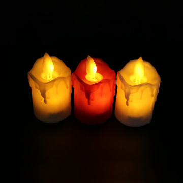 Flame Pillar Candles For Decor
