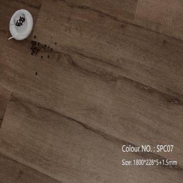 Interlock 4mm 5mm 6mm pvc lvt spc revêtement de sol