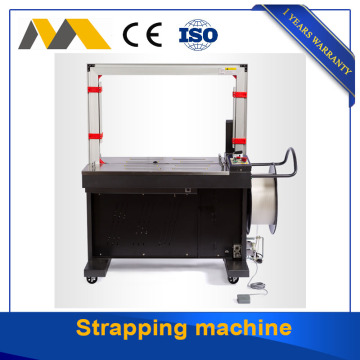 Carton box strapping machine with PP belts packing