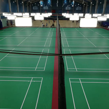 PVC sports floor mat for badminton court
