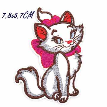 Cat Cartoon embroidery Patches Iron on Clothing