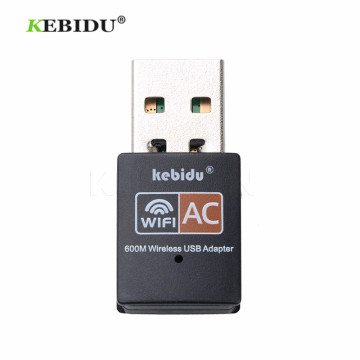 Kebidu 600Mbps Wireless USB WiFi Adapter Dual Band wi fi Antenna PC Network Card 2.4+5Ghz usb Lan Ethernet Receiver 802.11ac HOT
