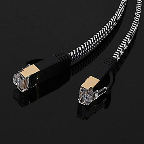 Nylon Braided CAT6 Flat Ethernet Cable