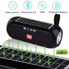 TG182 bluetooth portable portable sound column wireless stereo music box solar mobile power speaker outdoor waterproof speaker
