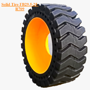 Solid Skid Steer Tyre Dengan Rims FB29.5-25 R709
