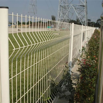 Powder Coated High Quality curved Welded Wire Mesh Fence Panels
