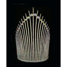 10 Inch Handmade AB Rhinestone Tiara Colored Pageants King Crown