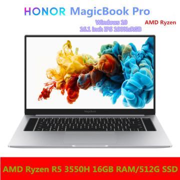 HONOR MagicBook Pro Laptop Notebook Computer(AMD Ryzen R5 3550H 16GB RAM/512G SSD/16.1'' IPS 100%sRGB)