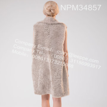 Icelandic Lamb Fur Gilet For Lady Winter