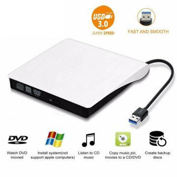 USB 3.0 DVD-RW Driver External Slim DVD ± RW CD-RW Burner Player Writer Drive Burner Optical Drives for Laptop PC DVD Burner