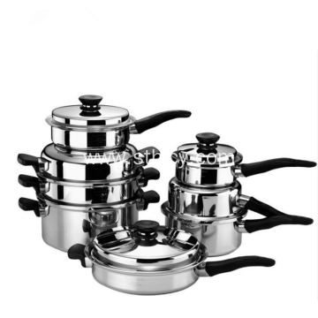 304 Stainless Steel Cookware Set 21 Pieces Set