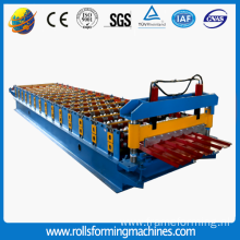 colored steel galvanized aluminum Trapezoidal roof tile roll forming machine