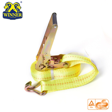 High Quality Polyester Ratchet Tie Down Strap With Hook