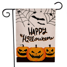 2020 New Halloween Garden Flag Pumpkin Ghost Spider Web Bat Castle Print Vertical Seasonal Outdoor Flag Hanging Decor for Yard