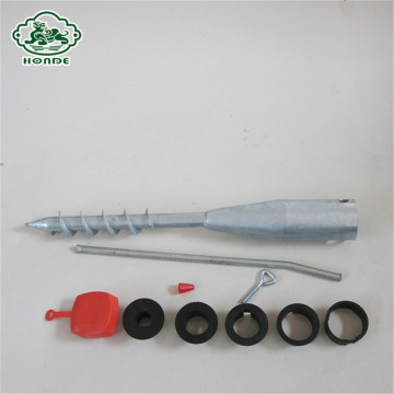 No concrete flag pole ground screw anchor