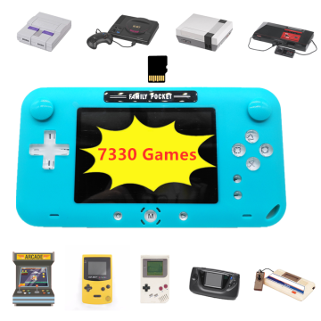 Retro Handhled Game Console Portable Game Player with 9 Emulators 7330 Built-in Games for Nes For Genesis Support Save&Load