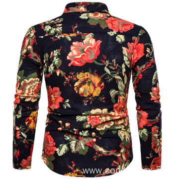 Mens printed long sleeve shirt