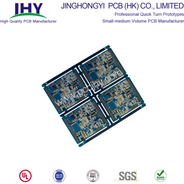 8 Layer PCB Immersion Gold Blue FR4