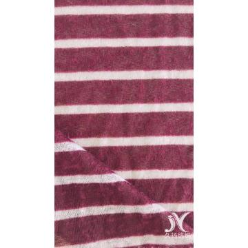 Wine White Stripe Jersey Knit