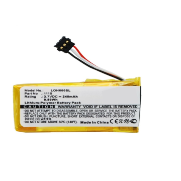 3.7V 240mah Logitech H600 Headset Battery