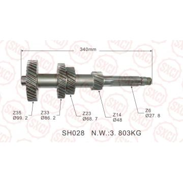 Automobile gearbox intermediate shaft assembly ofJAC