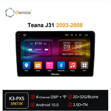 Ownice Android 10.0 Octa Core 2 Din Car Dvd Player ForNissan Teana J31 2003 - 2008 SPDIF DSP 360Panorama Optical GPS Navi Stereo