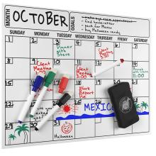 Magnetic Dry Erase Calendar Holder  For Refrigerator