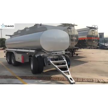 aluminum 3axle dolly oil Tank Semi Trailer