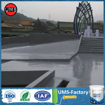 Roof waterproofing system shed paint