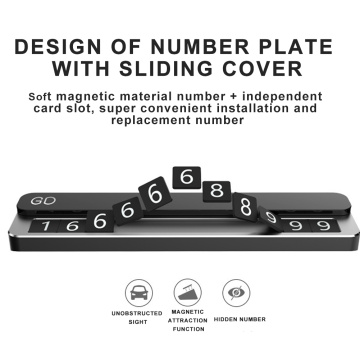 Car Temporary Parking Card Phone Number Card Plate Telephone Number Car Park Stop Automobile Accessories Car-styling