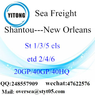 Shantou Port Sea Freight Shipping To New Orleans