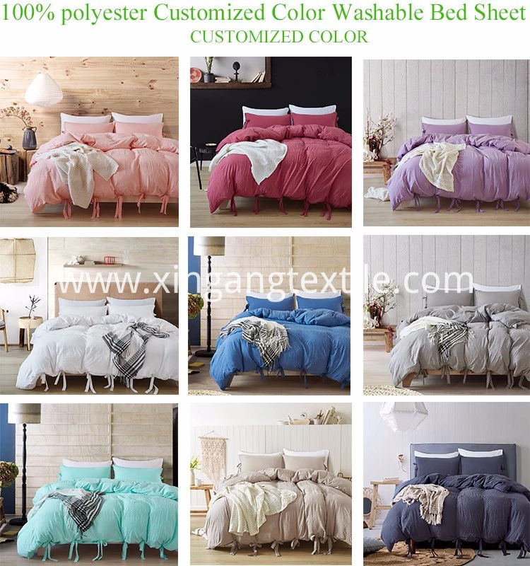 100% Polyester Washable Bed Sheet Color