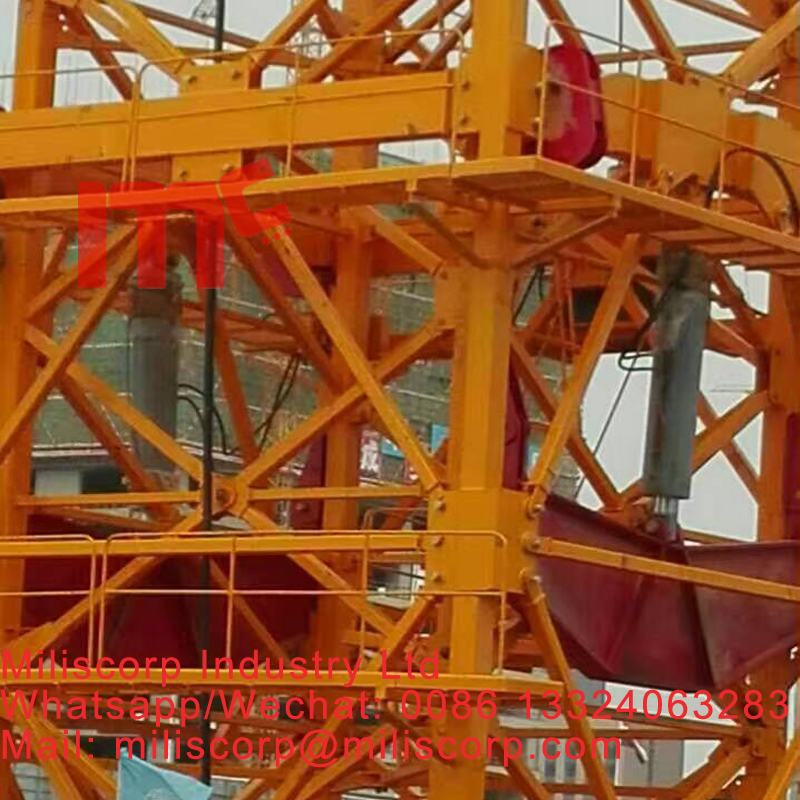 double cylinder tower crane