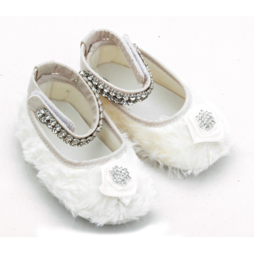 Cotton Plush Little Girls Baby Mary Jane Shoes