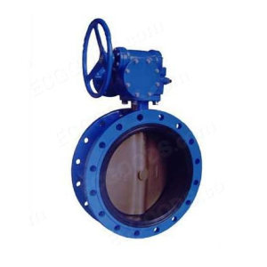 Manual  PTFE Flange Fluorine Lined Butterfly Valve