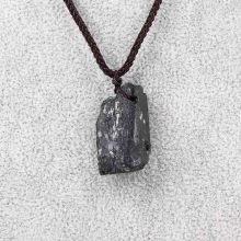 Natural Crystal Black Tourmaline Stone Pendant Black Tourmaline Original Stone Ore Specimen Fashion Jewelry Accessories Gift