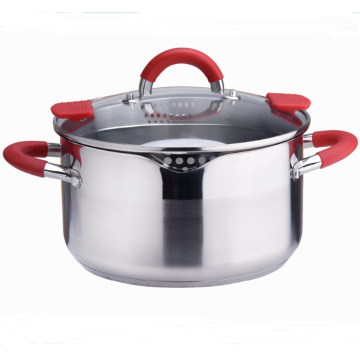 Stainless Steel easy pour pot with Strainer Lid