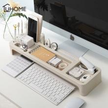 Desk Organizer Home Office Keyboard Cover Desktop Storage Racks Stationery Pen Holder Office Accessories Organizer Box