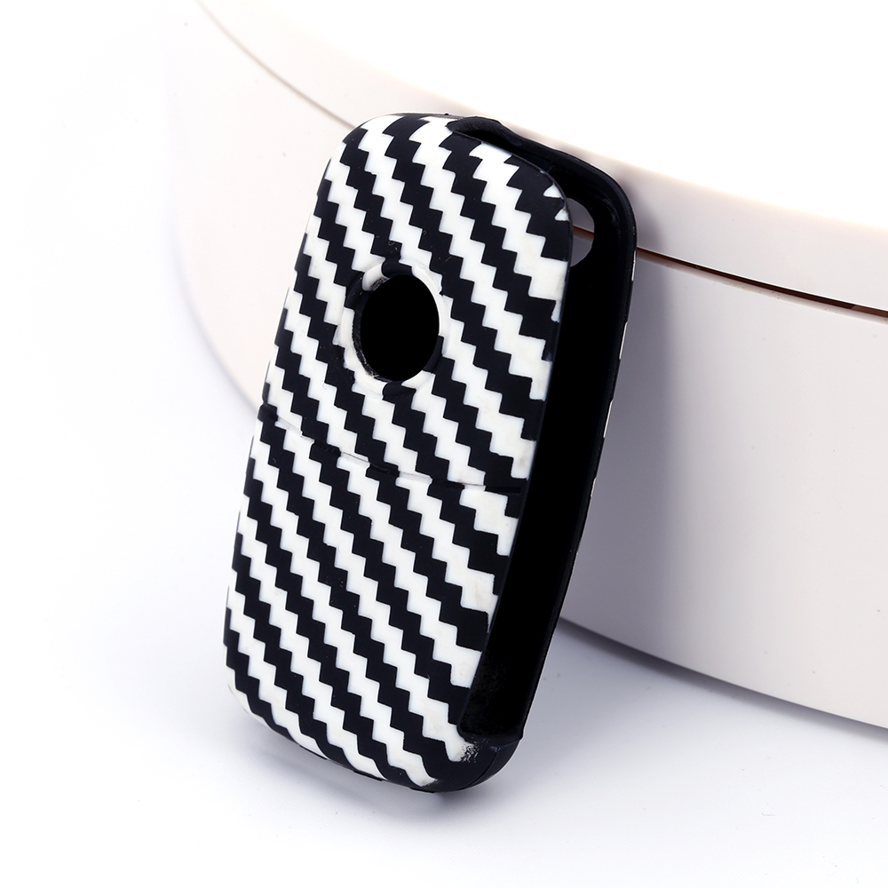 Carbon Fiber VW silicone key case