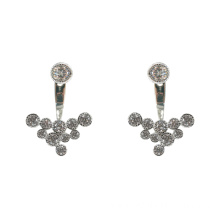 Fashion 925 Sterling Silver Jacket Stud Earrings