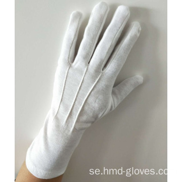 Long Marching Band Handskar / Vit bomull Military Glove