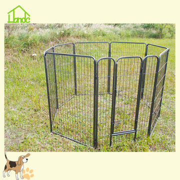Eight panels square tube puppy dog playpen