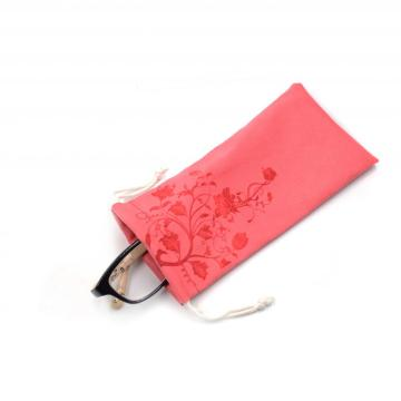 personalised microfiber cloth pouch for glasses