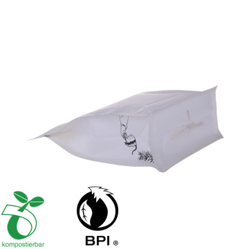 biodogradable customize coffee Resealable Material  bag with flat bottom zipper pouch