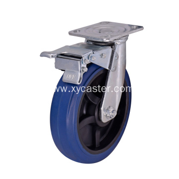 Rubber Base Wheel with Brake Top Plate